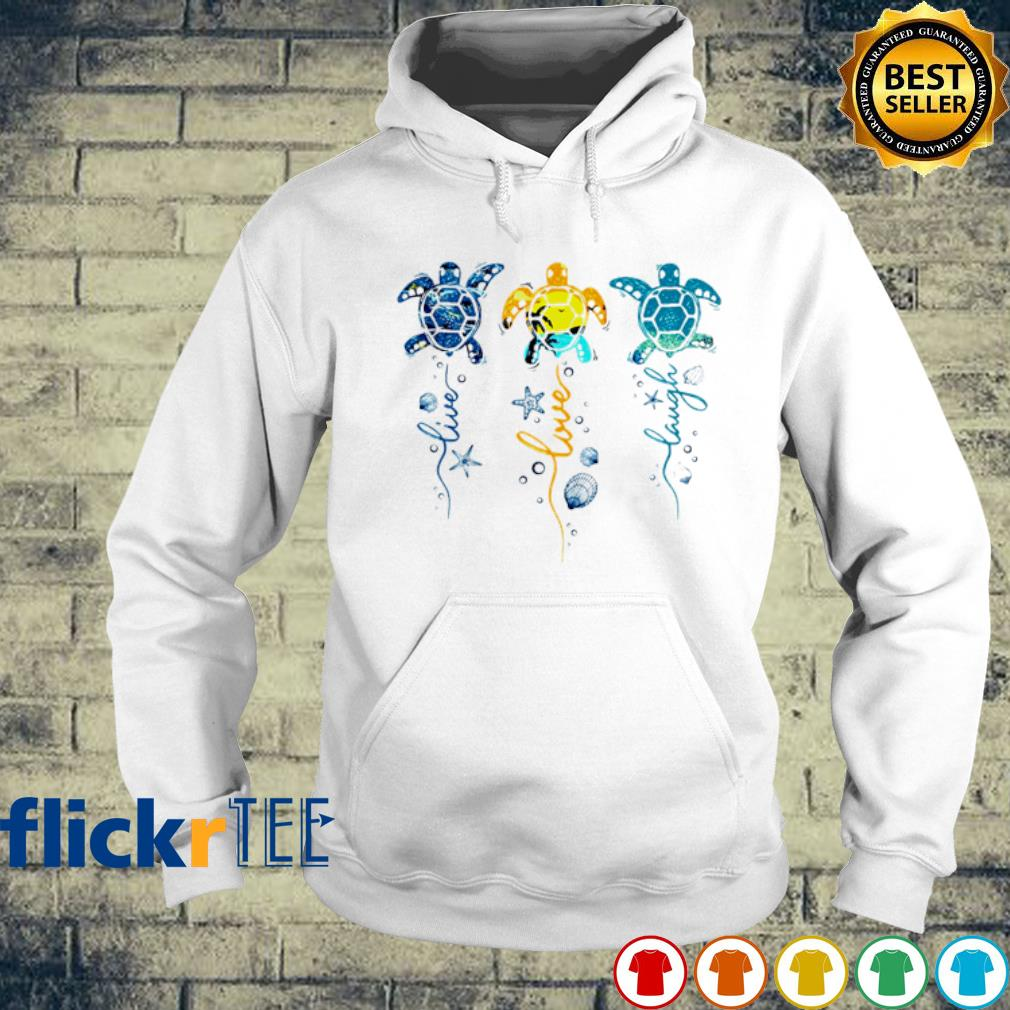 Ocean Live Love laugh turtle s hoodie