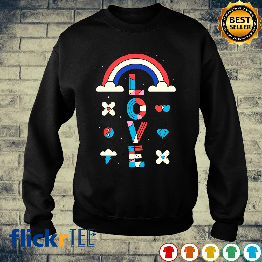 Rainbow love s sweater
