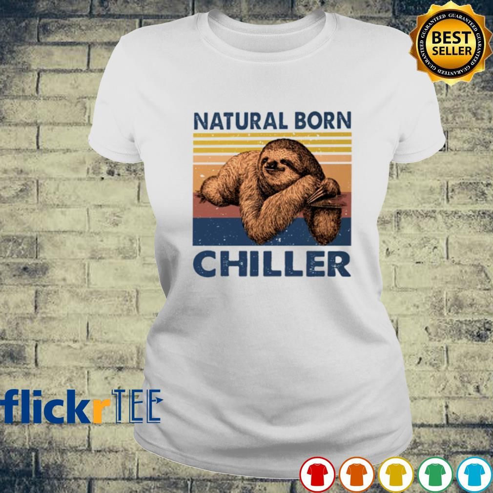 Sloth Natural born chiller vintage s ladies-tee