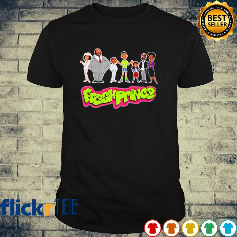 The Fresh Prince of Bel Air Characters cartoon shirt