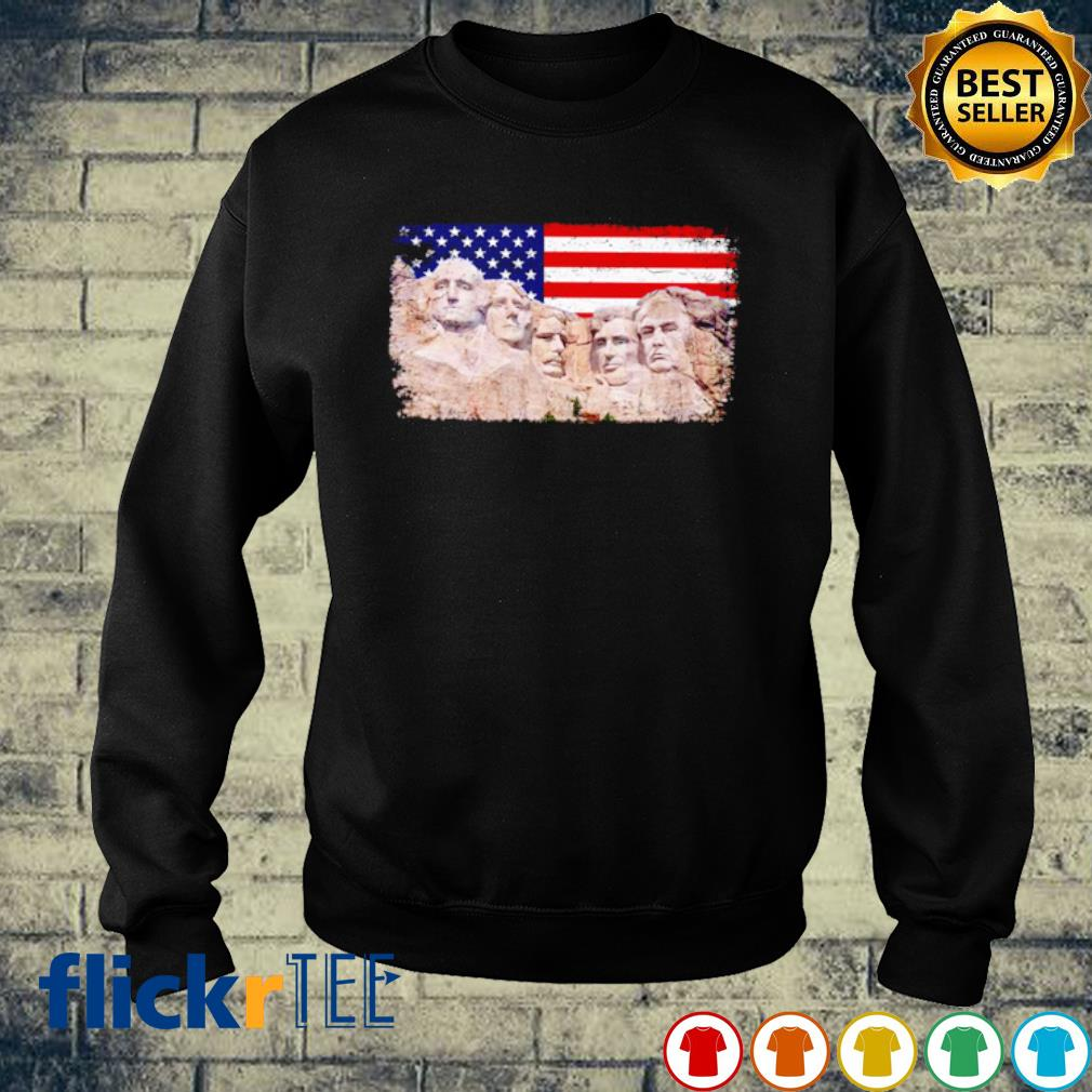 45th added to rushmore mount Trump s sweater