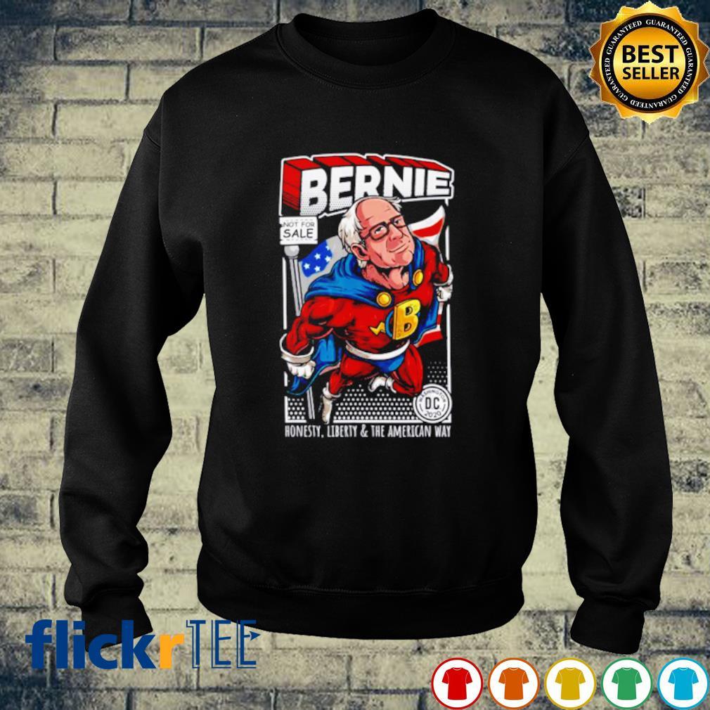 Bernie Sanders Superhero Honesty Liberty And The American Way s sweater