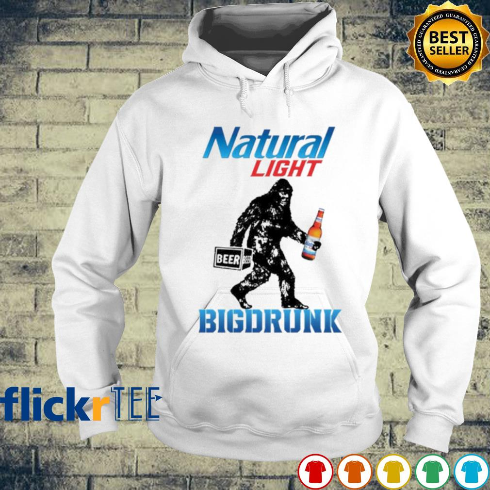 Bigfoot Natural Light big drunk s hoodie