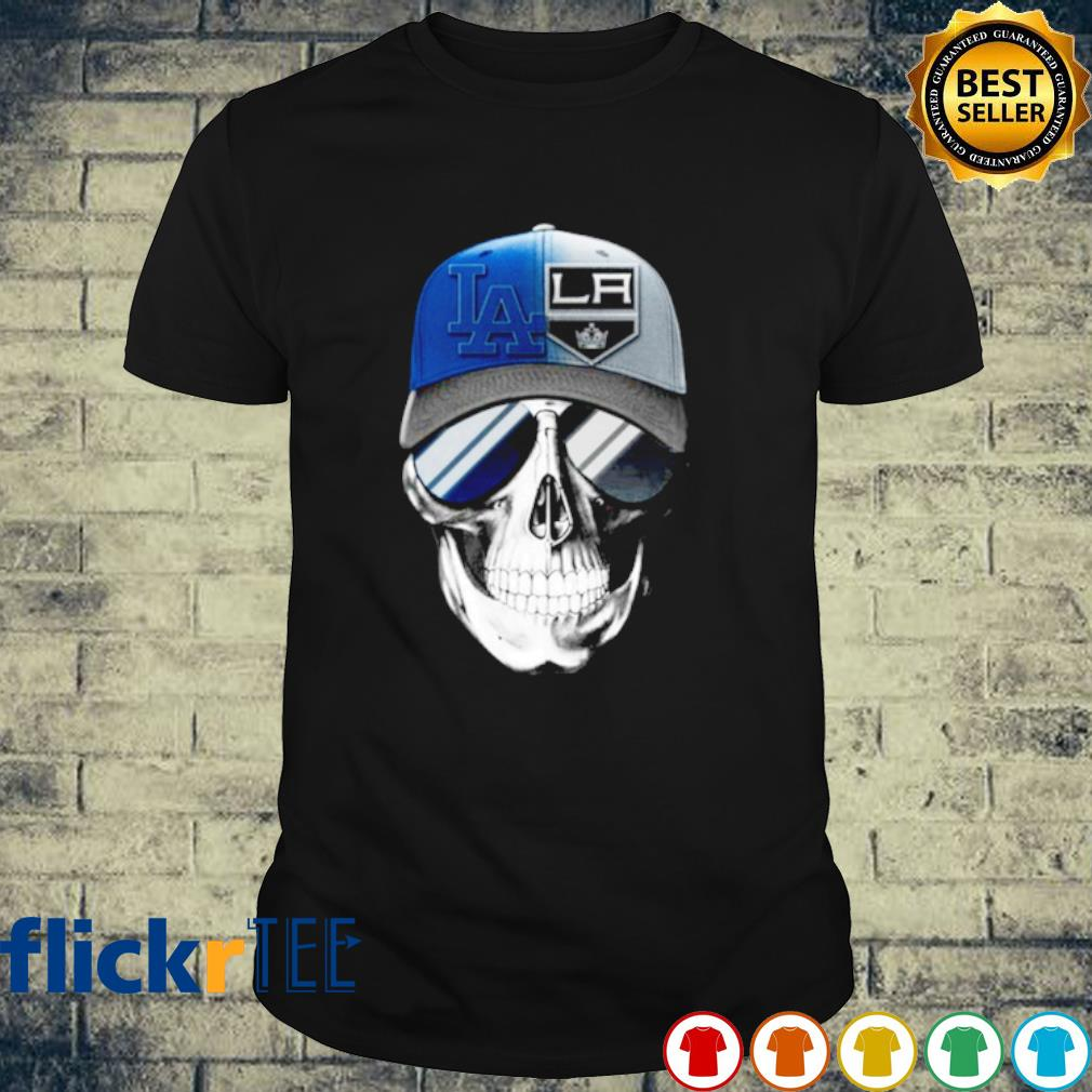 Cool Skull Los Angeles Dodgers and Los Angeles Kings shirt