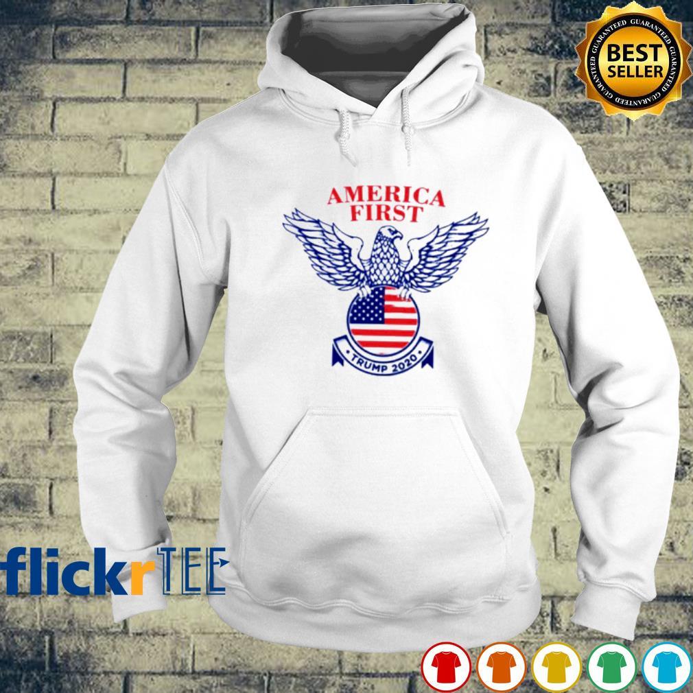 Eagle America First Trump 2020 American Flag Shirt hoodie
