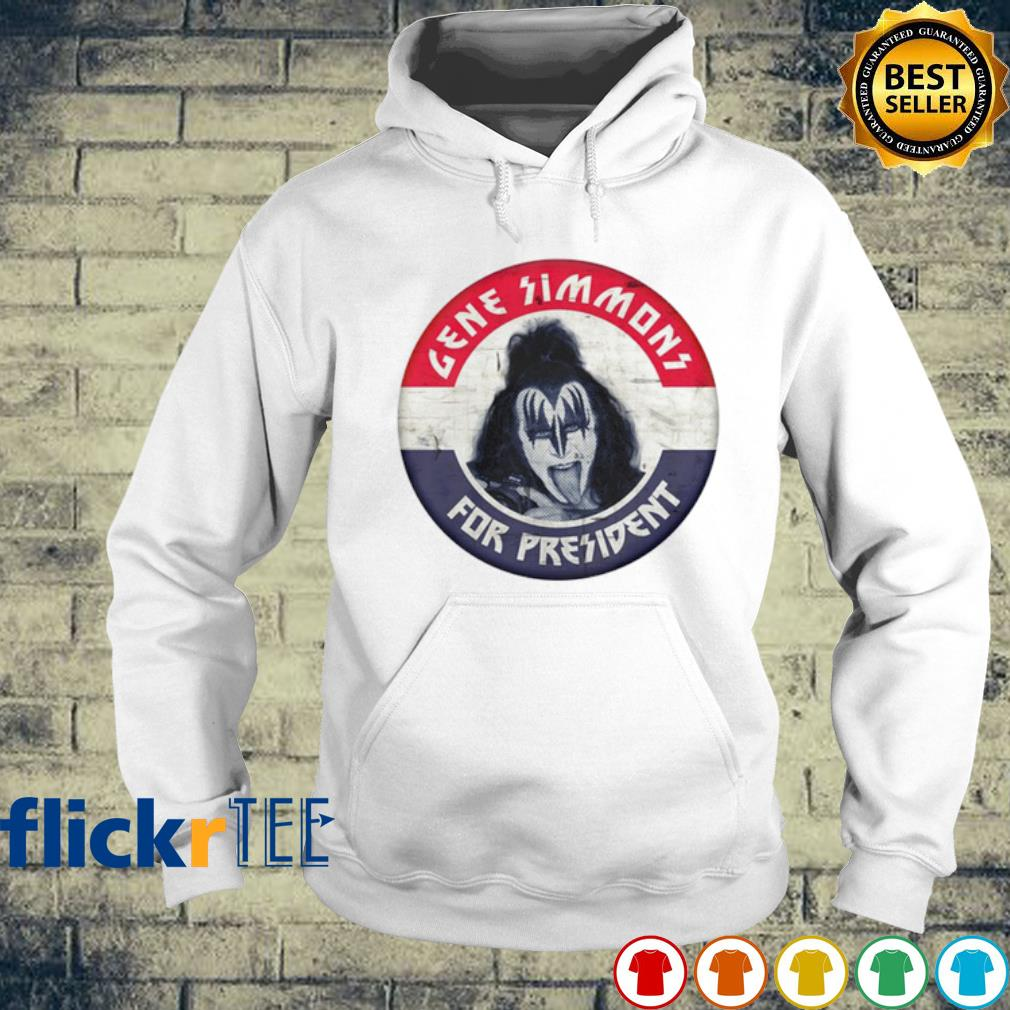 Gene Simmons for president election s hoodie