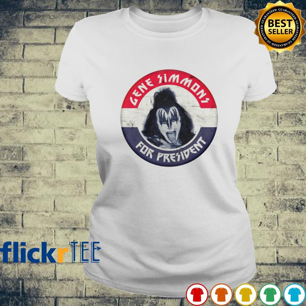 Gene Simmons for president election s ladies-tee