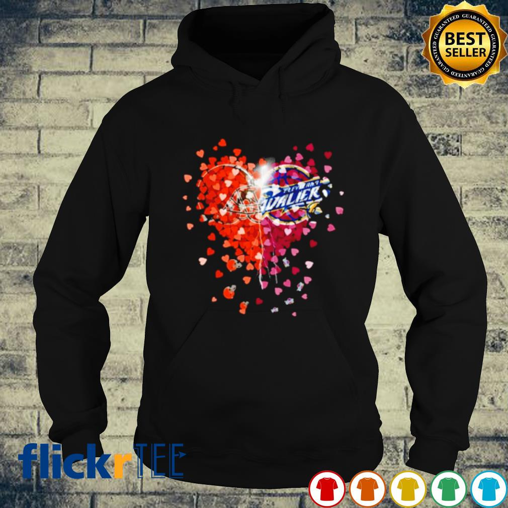 Heart Cleveland Browns and Cleveland Cavaliers love s hoodie
