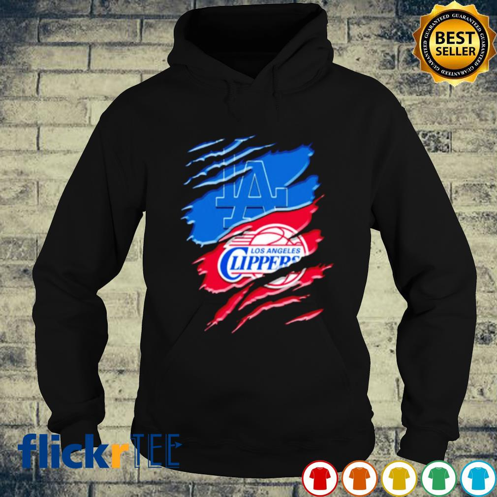 Scratch Los Angeles Dodgers and Los Angeles Clippers s hoodie
