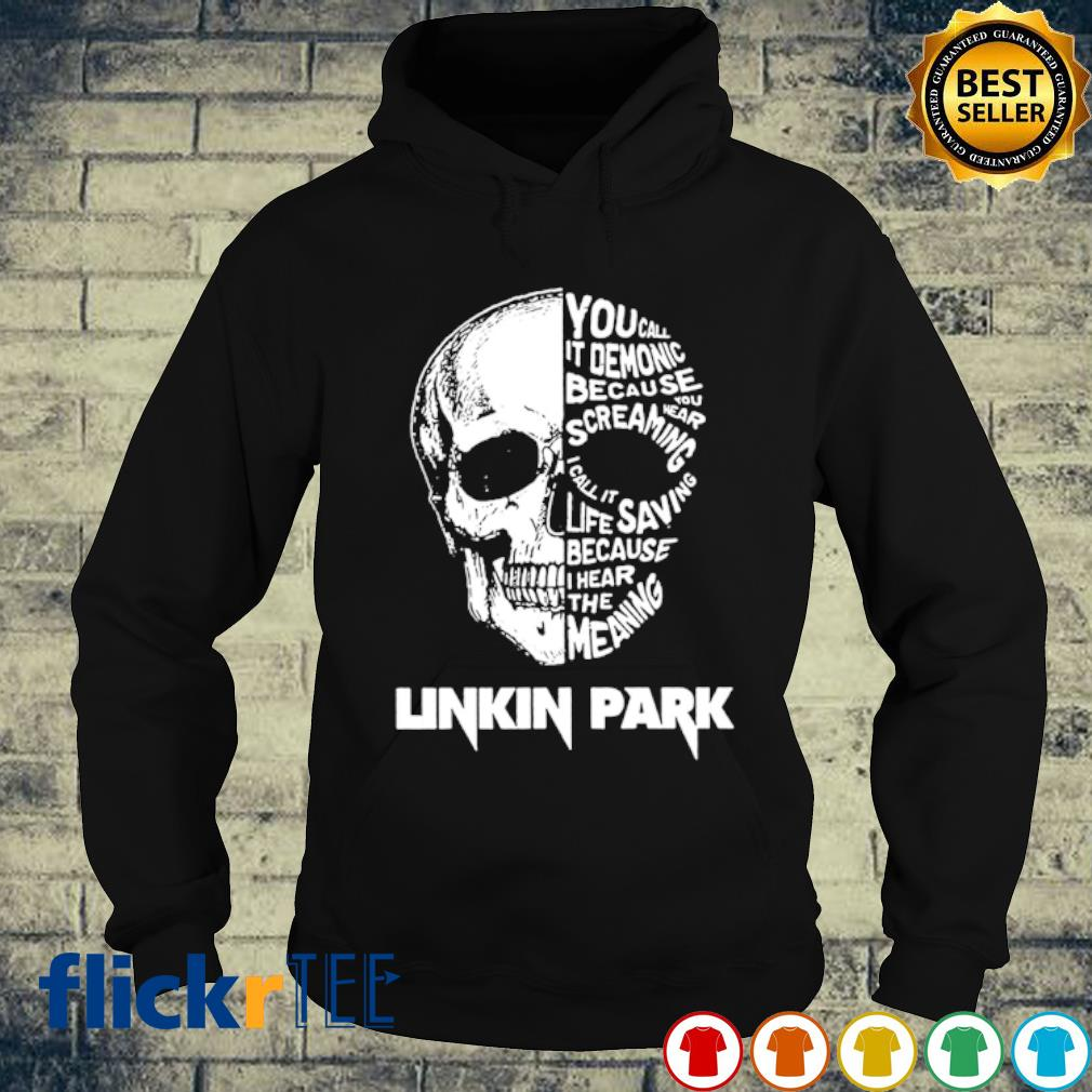 Skull Linkin Park you call it demonic because you wear screaming s hoodie