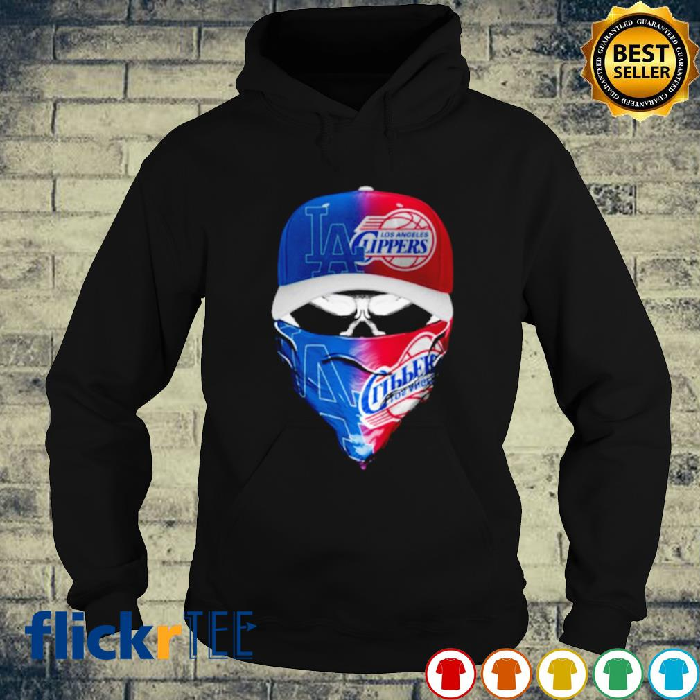 Skull Los Angeles Dodgers and Los Angeles Clippers s hoodie
