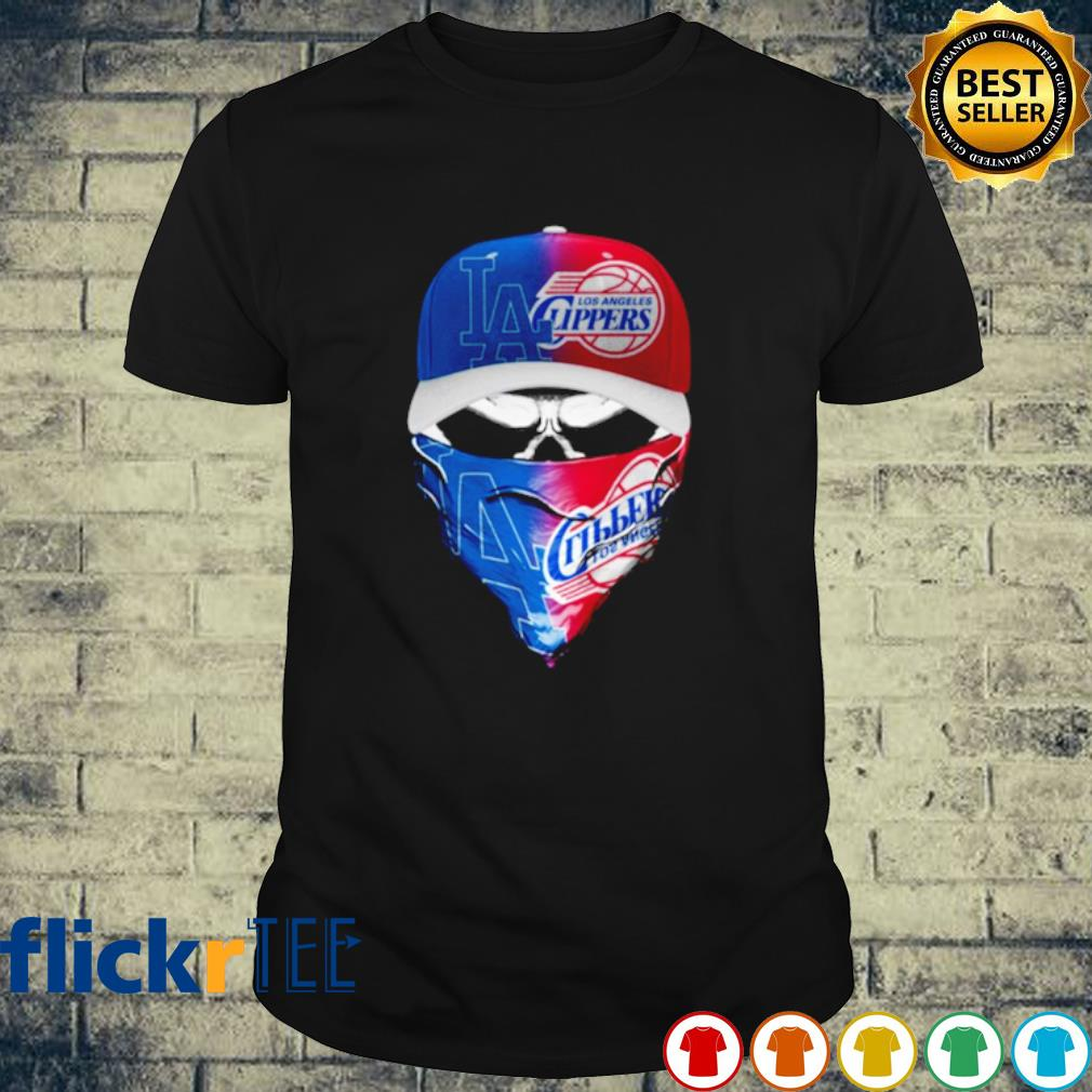 Skull Los Angeles Dodgers and Los Angeles Clippers shirt