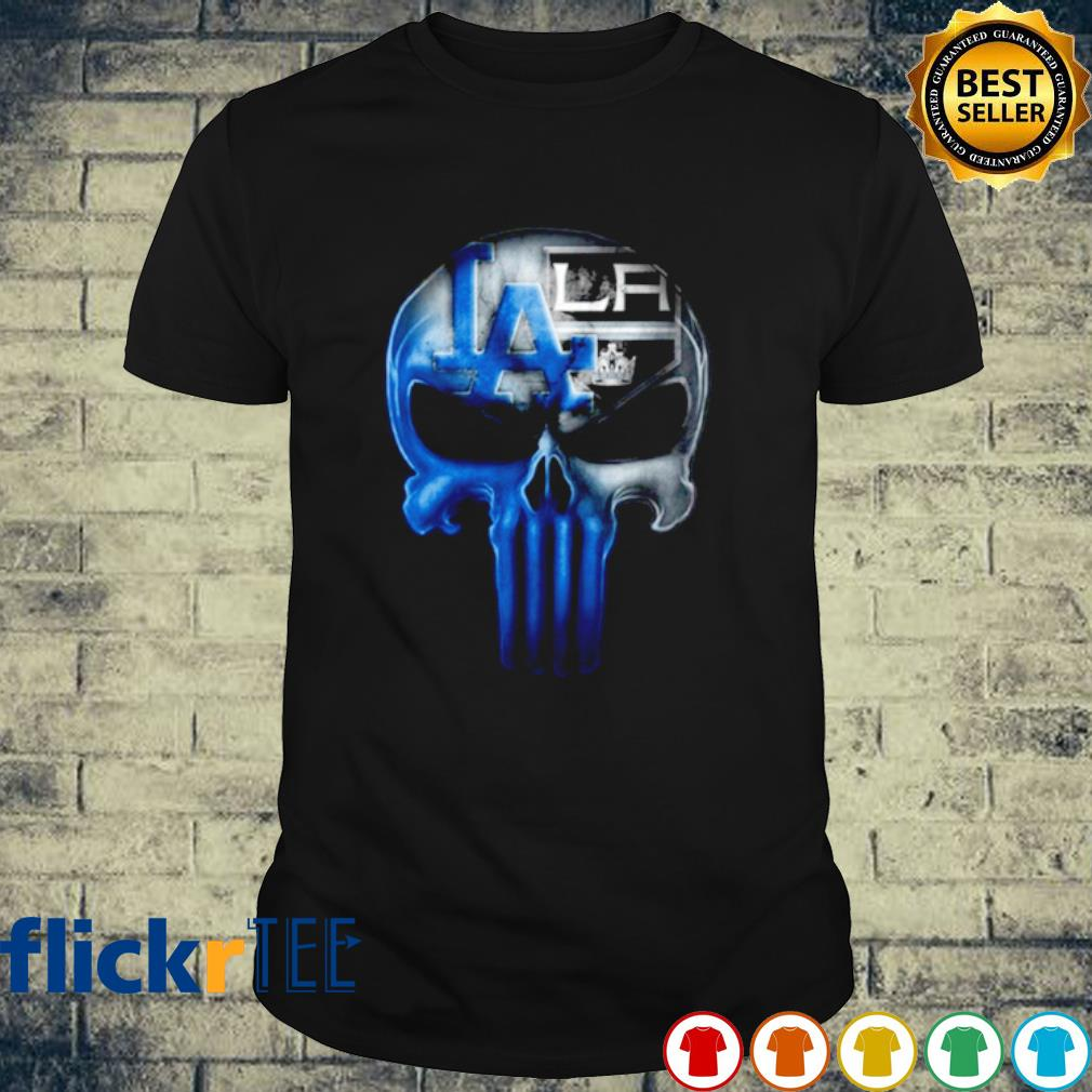 Skull Los Angeles Dodgers and Los Angeles Kings shirt