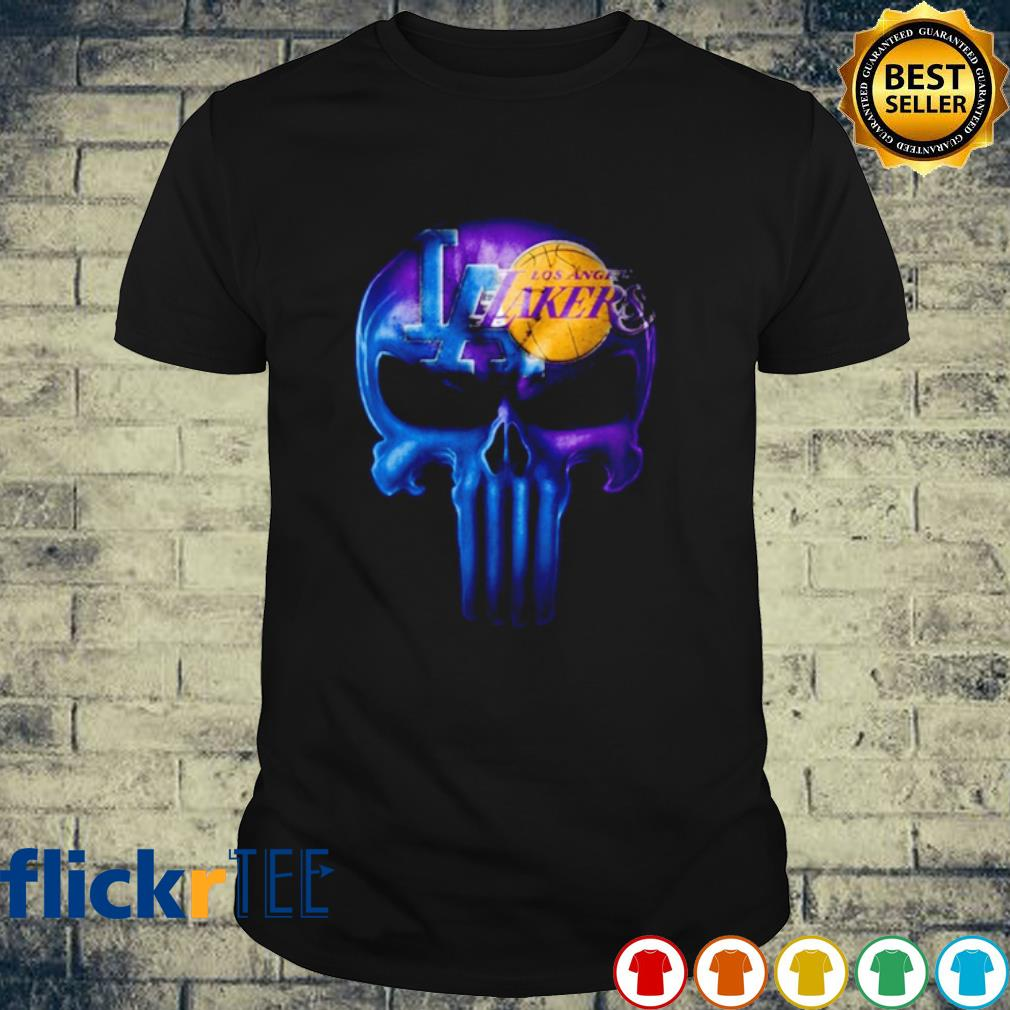Skull Los Angeles Dodgers and Los Angeles Lakers shirt