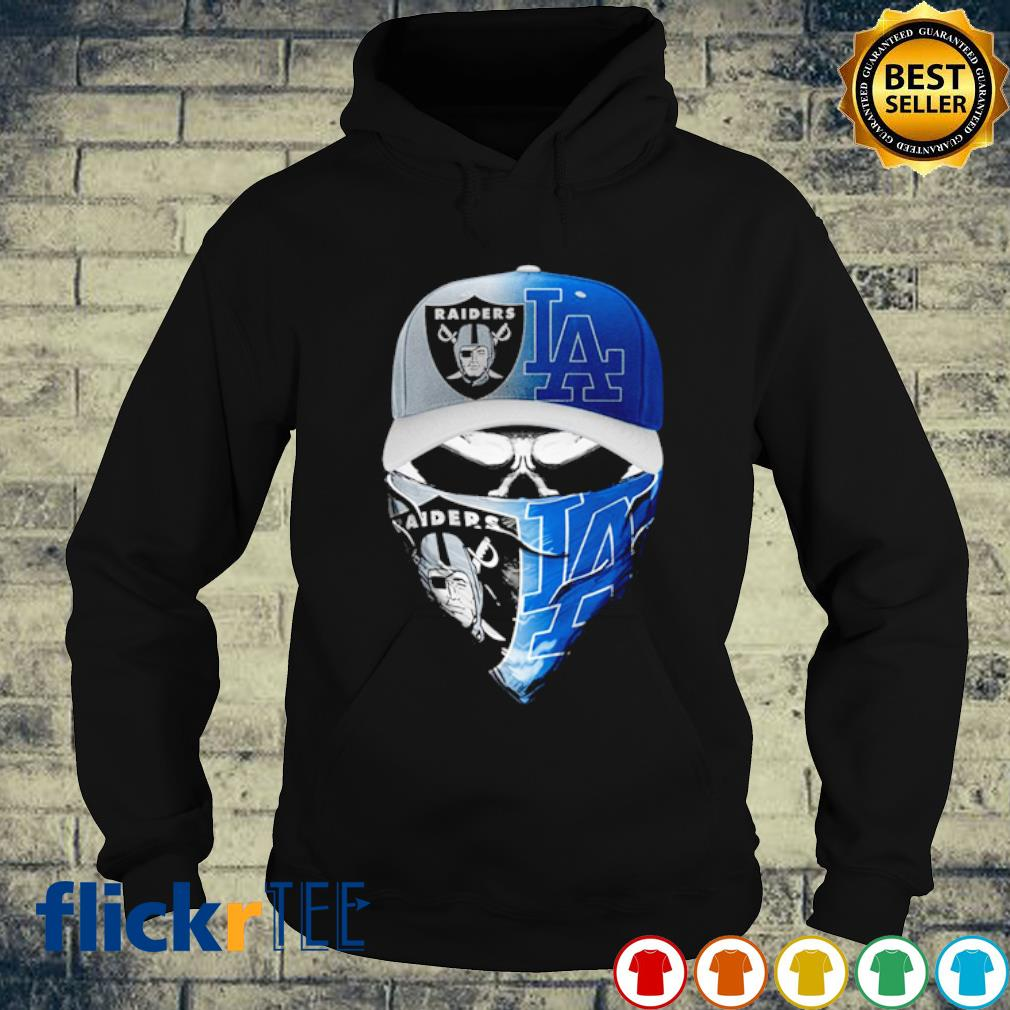 Skull Oakland Raiders and Los Angeles Dodgers s hoodie