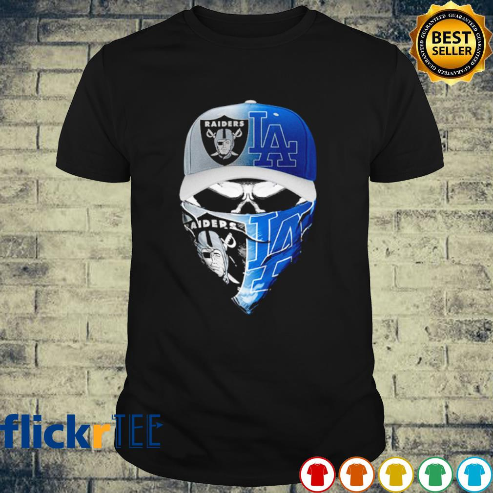 Skull Oakland Raiders and Los Angeles Dodgers shirt