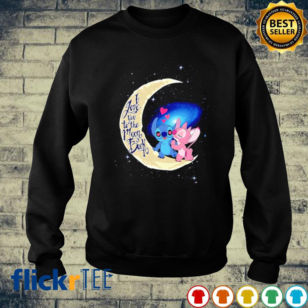 Stitch and Angel I love you to the moon and back s sweater