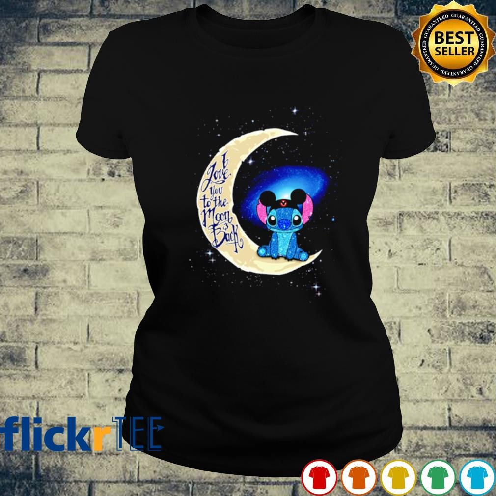 Stitch Mickey I love you to the moon and back s ladies-tee