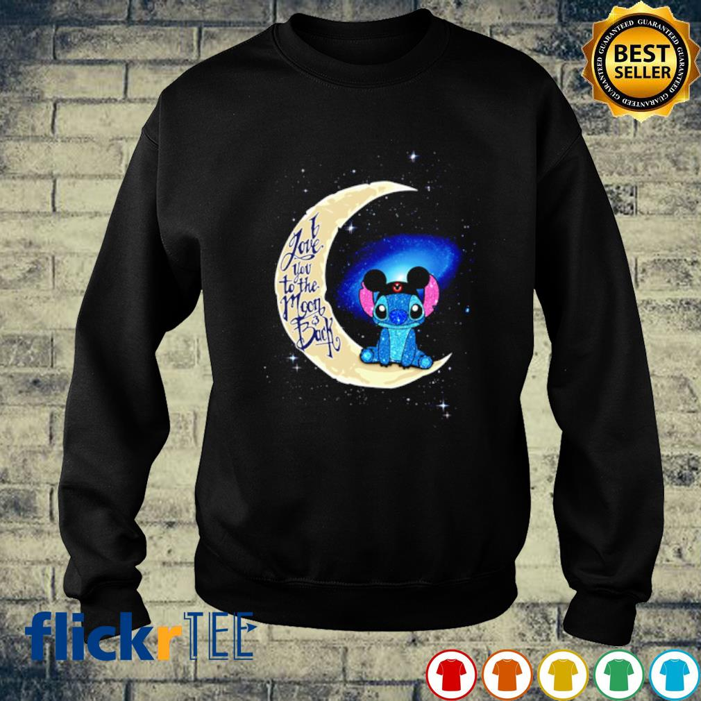 Stitch Mickey I love you to the moon and back s sweater