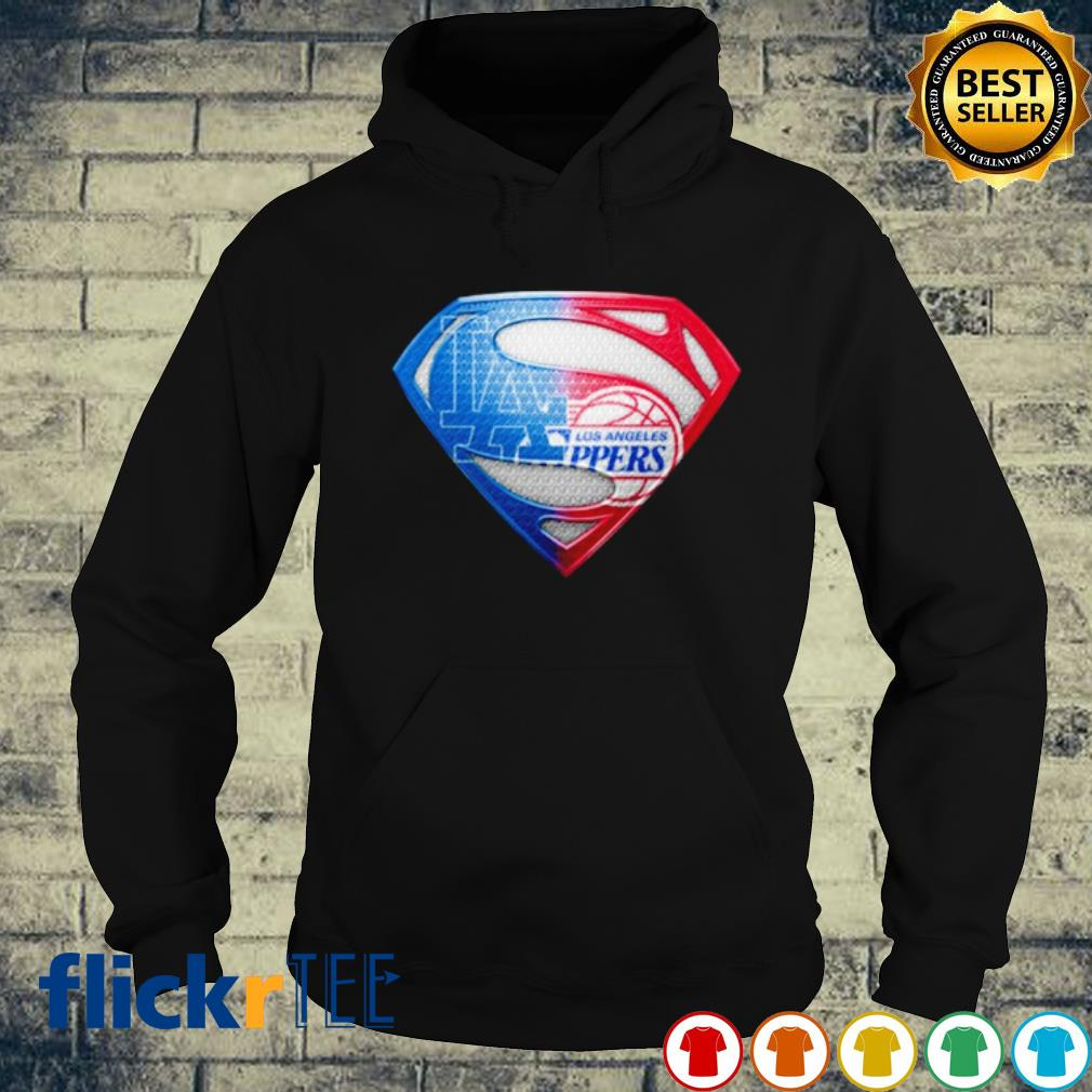 Superman Los Angeles Dodgers and Los Angeles Clippers s hoodie