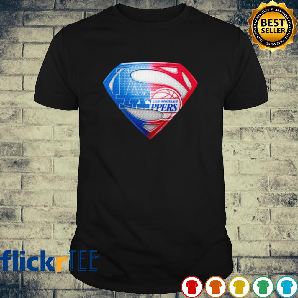 Superman Los Angeles Dodgers and Los Angeles Clippers shirt