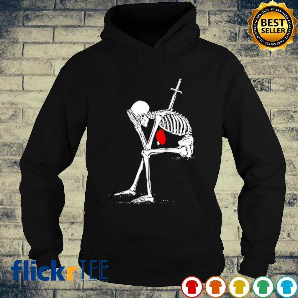 The sword pierces the heart of the skeleton s hoodie