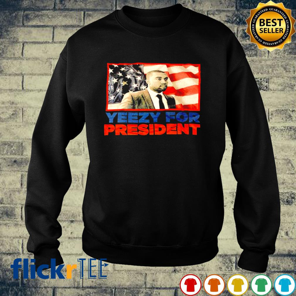 Yeezy for president American flag s sweater