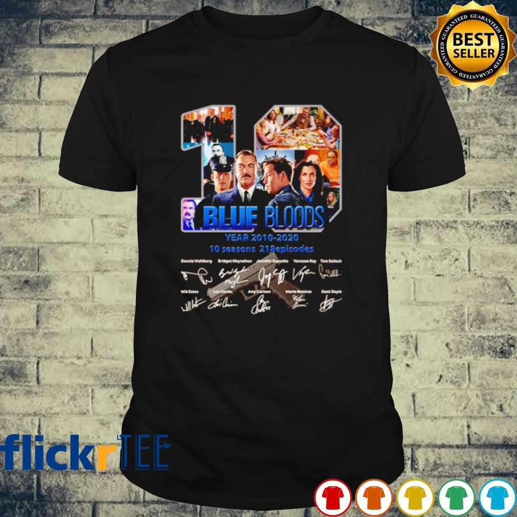 10 years of Blue Bloods 2010 2020 signature shirt