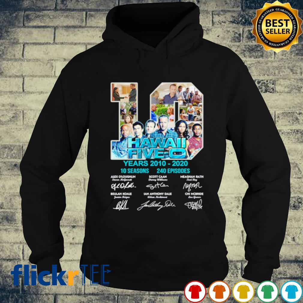 10 years of Hawaii Five-O 2010 2020 signature s hoodie