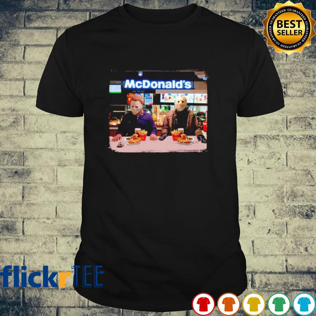 Michael Myers and Jason Voorhees McDonald's shirt
