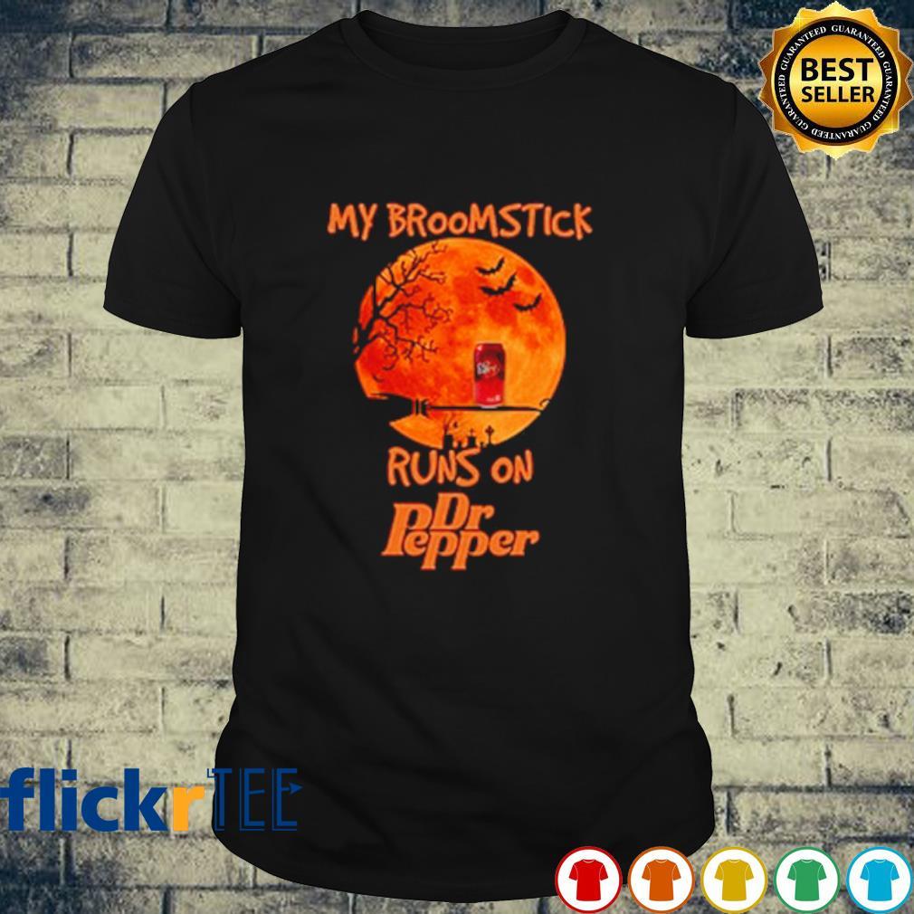 My broomstick runs on Dr Pepper Halloween shirt
