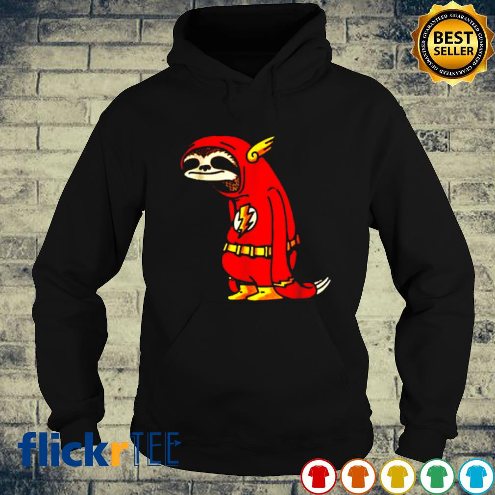 Slothy Super Hero Sloth Flash s hoodie