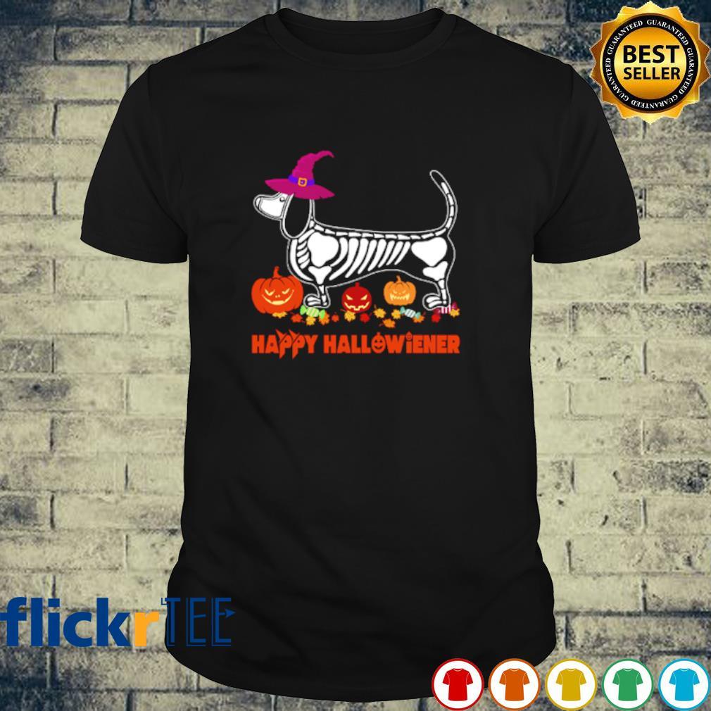 Witch Skeleton Dachshund Happy Hallowiener shirt