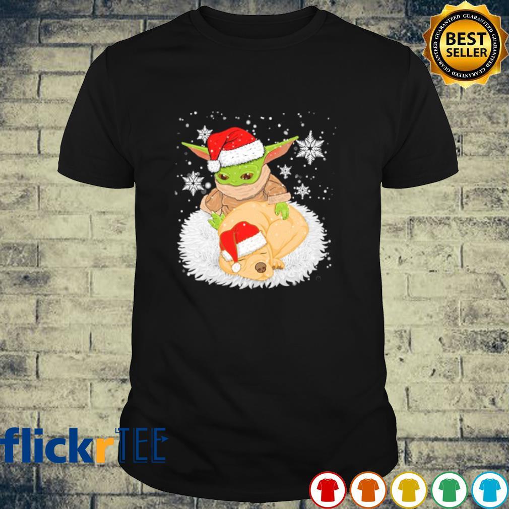 Baby Yoda and puppy Christmas shirt