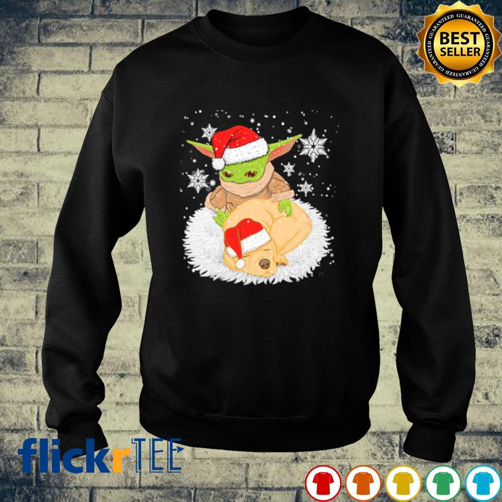 Baby Yoda and puppy Christmas s sweater