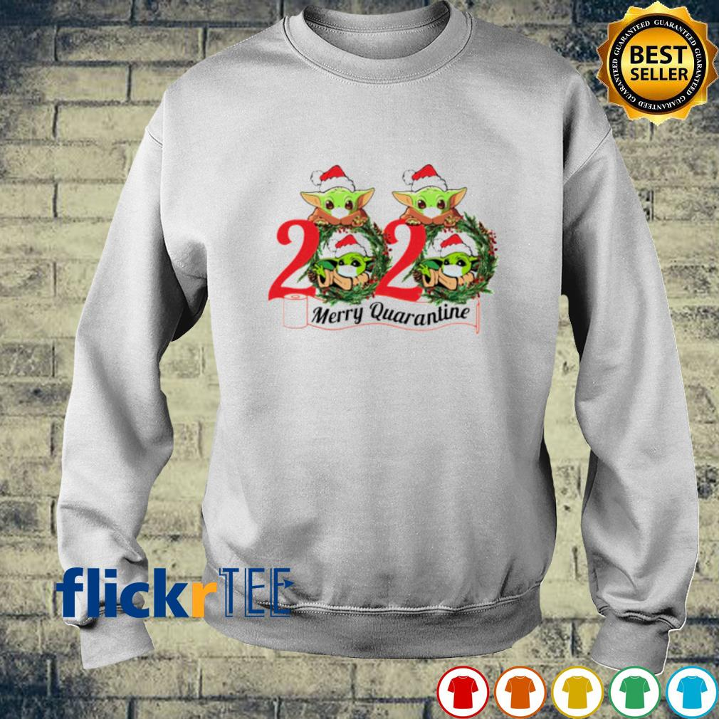 Baby Yoda face mask 2020 merry quarantine Christmas s sweater