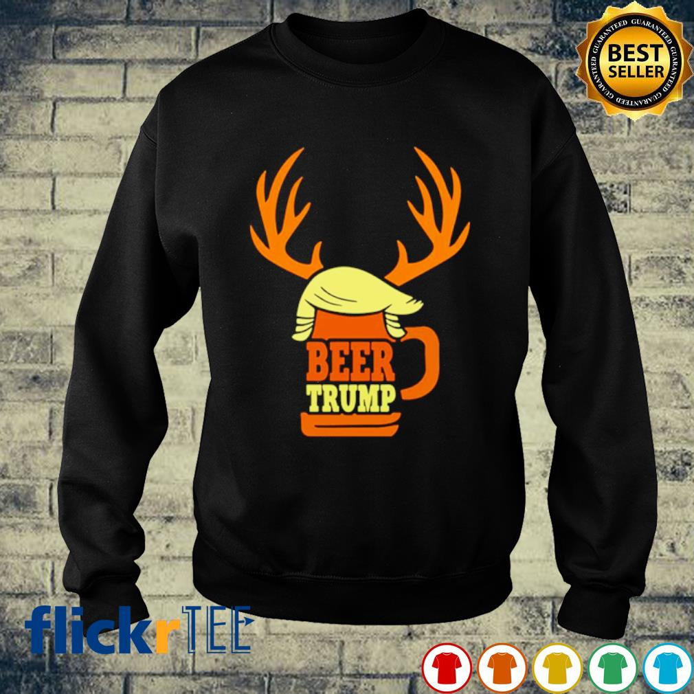 Beer Trump Reindeer Christmas s sweater