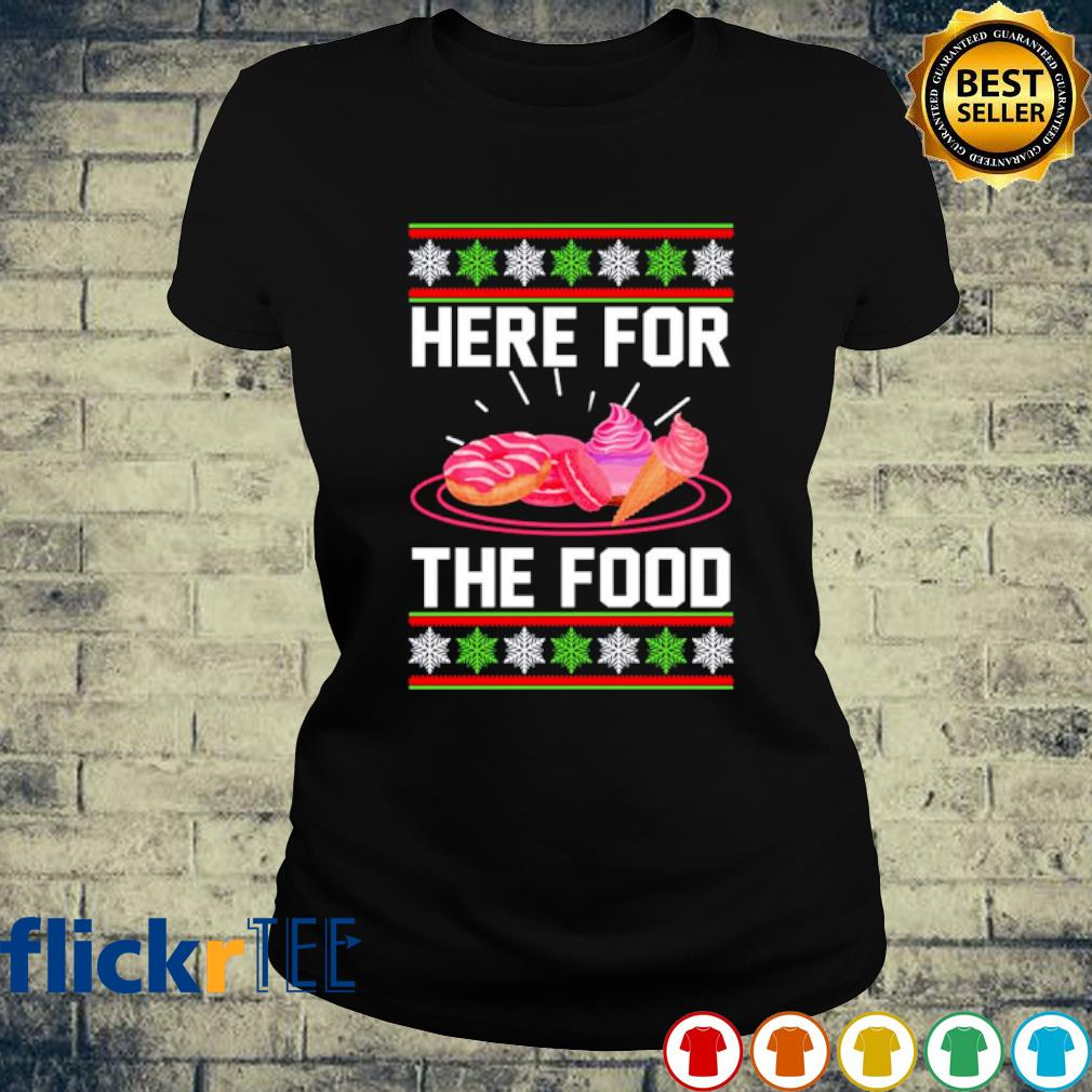 Cake and cream Here for the food Christmas s ladies-tee
