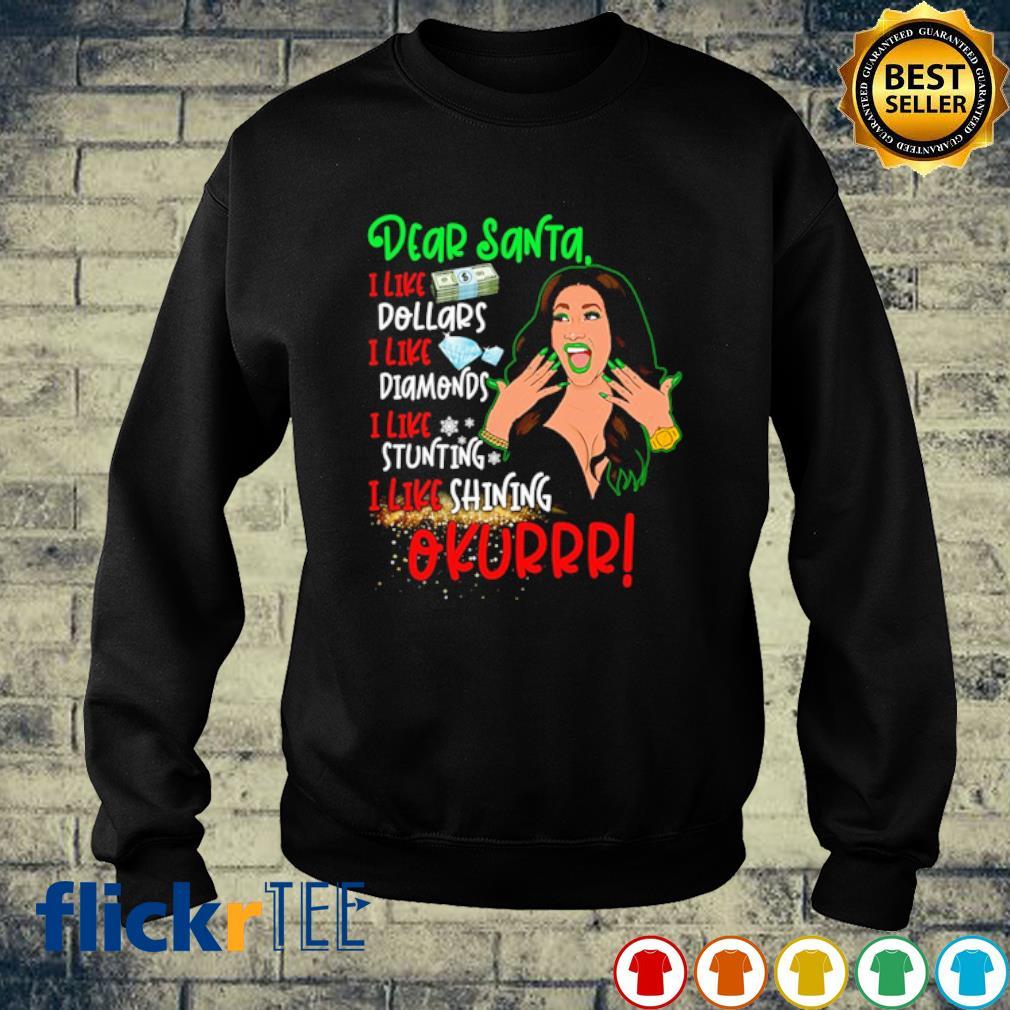 Cardi B dear Santa I like dollars diamonds stunting shining okurrr s sweater