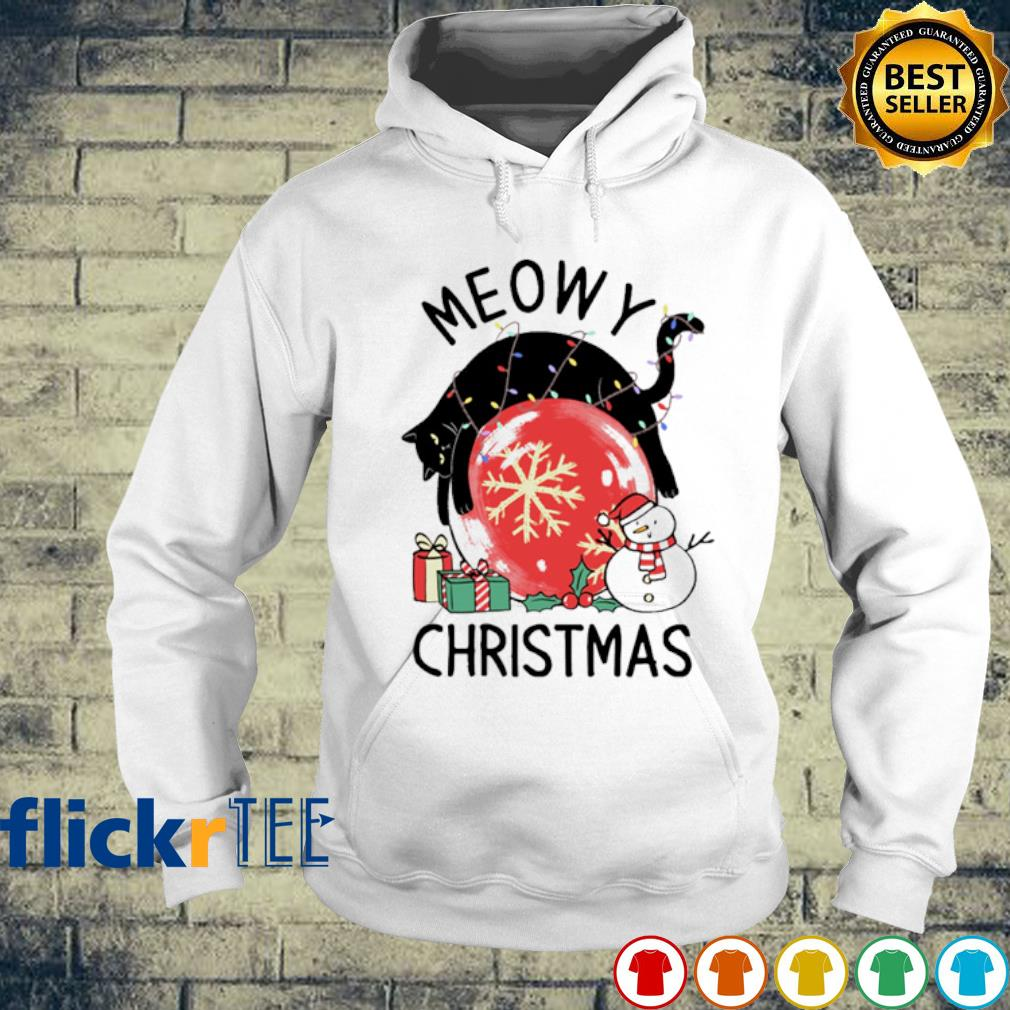 Cat meowy Christmas s hoodie