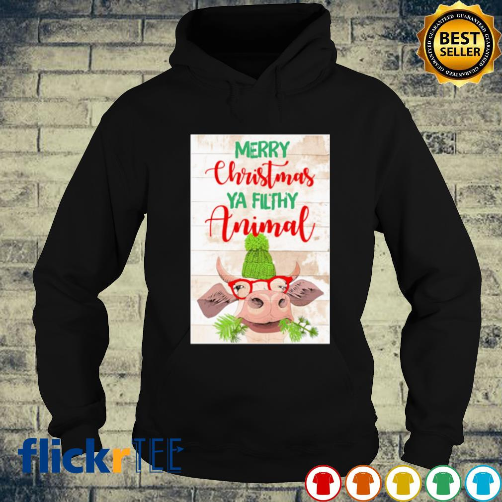Cat merry Christmas ya filthy animal s hoodie