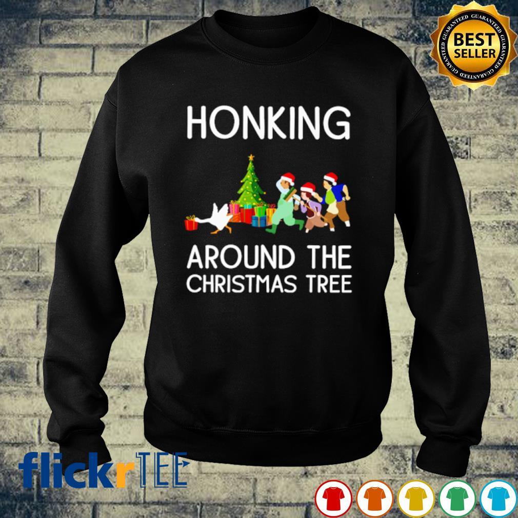 Honking around the Christmas tree s sweater