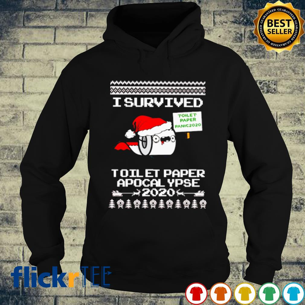I survived toilet paper apocalypse 2020 Christmas s hoodie