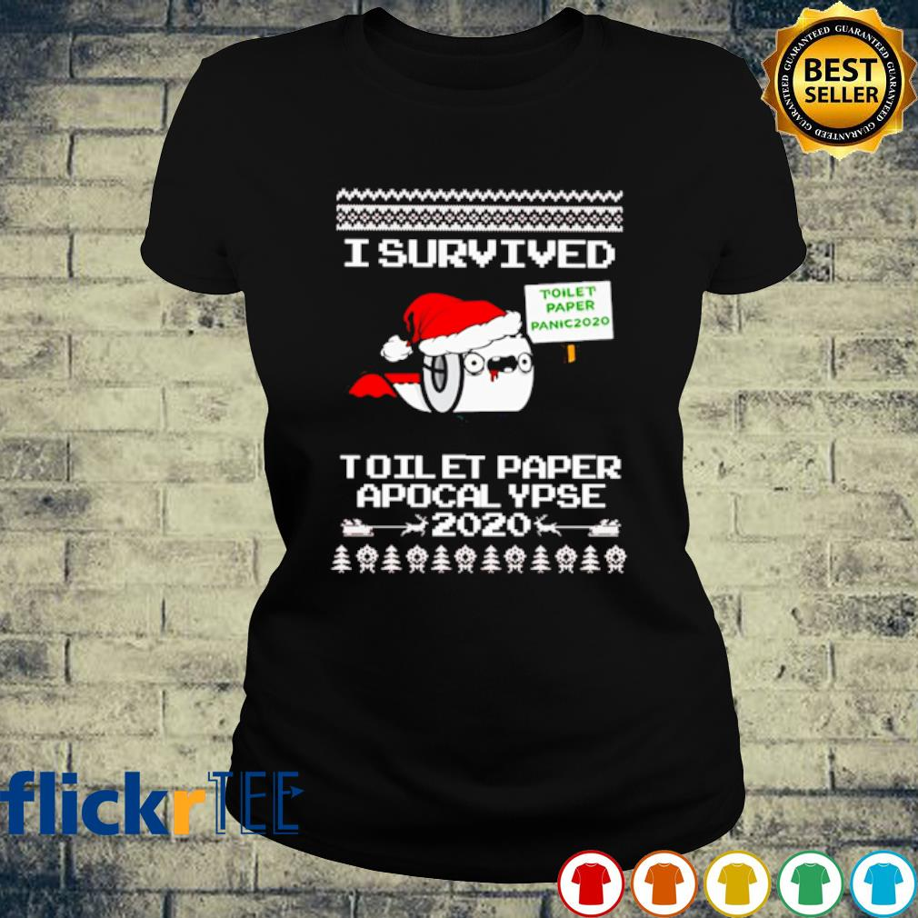 I survived toilet paper apocalypse 2020 Christmas s ladies-tee
