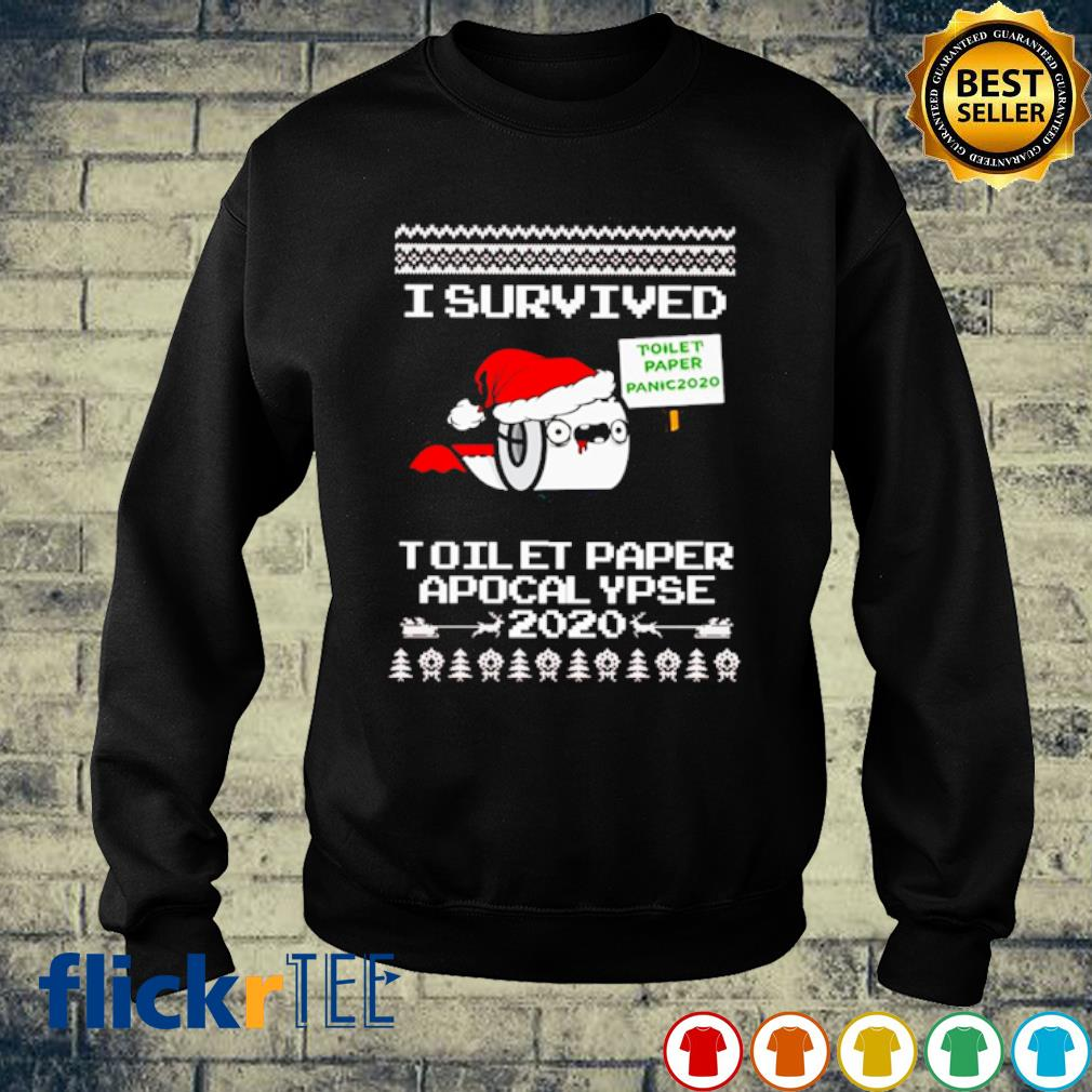 I survived toilet paper apocalypse 2020 Christmas s sweater
