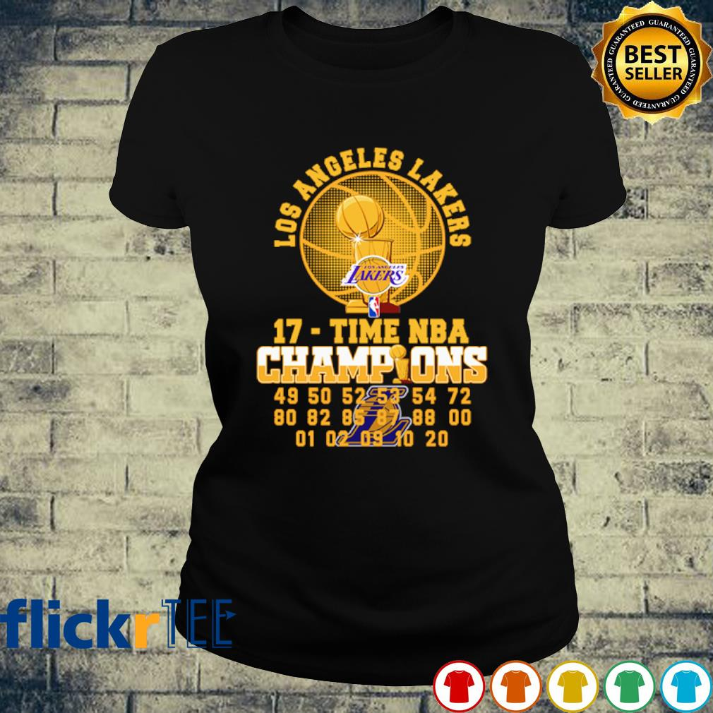 Los Angeles Lakers 17 time NBA champions s ladies-tee