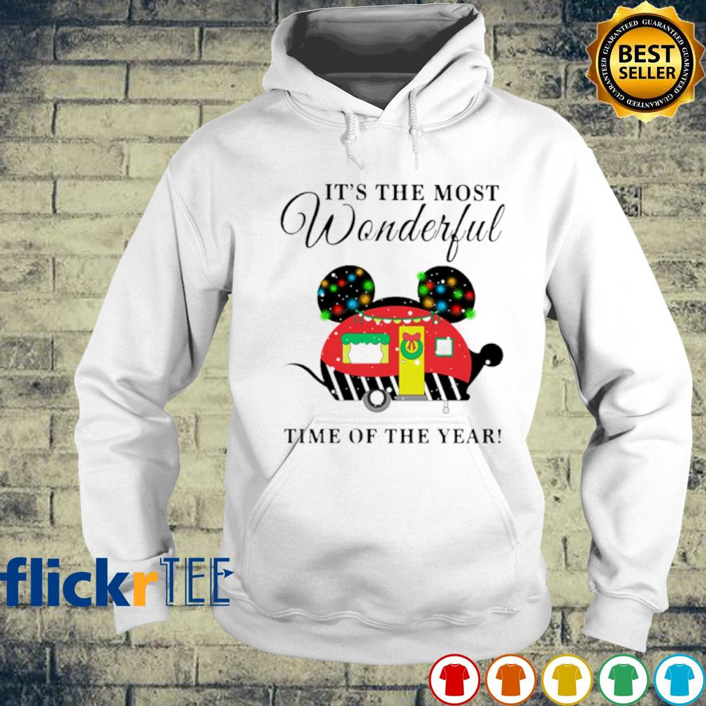 Mickey mouse camper Christmas it's the most wonderful time of the year s hoodie