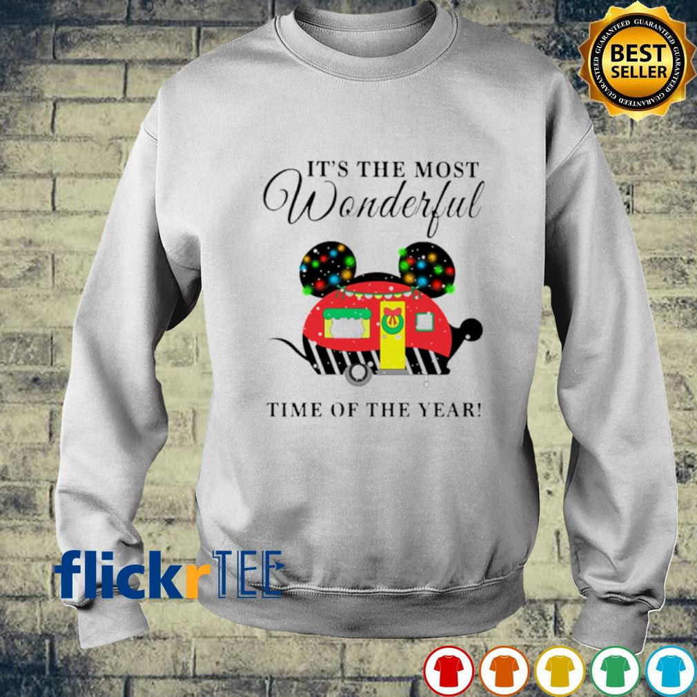 Mickey mouse camper Christmas it's the most wonderful time of the year s sweater