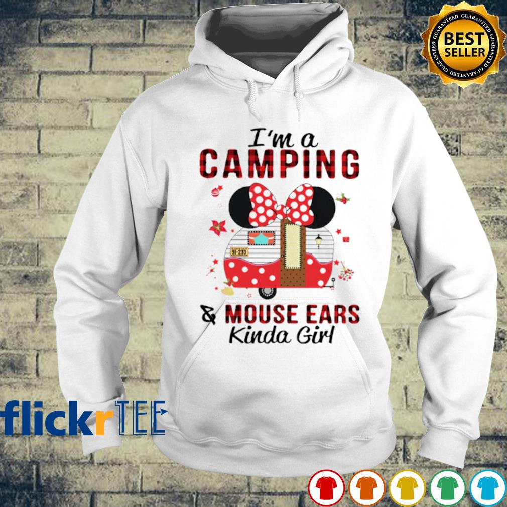 Minnie mouse I'm a camping and mouse ears kinda girl s hoodie
