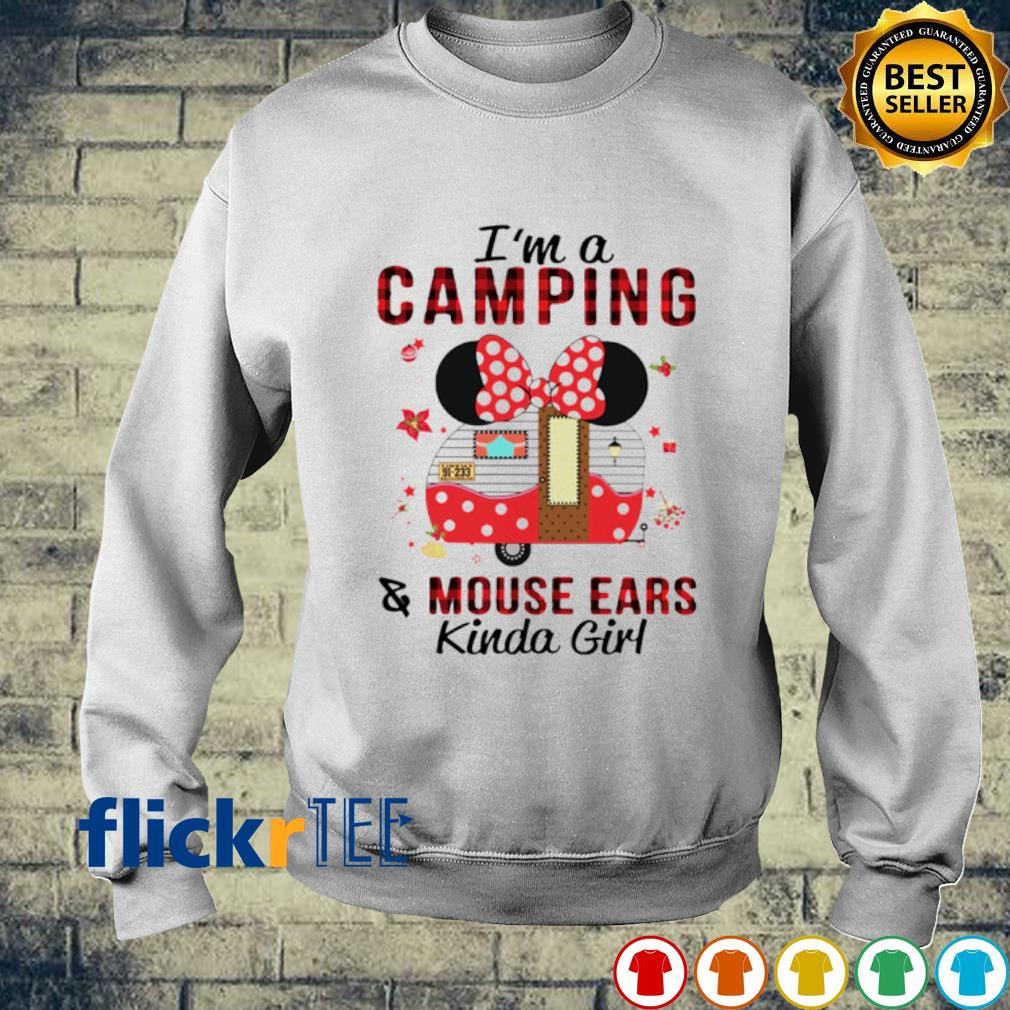 Minnie mouse I'm a camping and mouse ears kinda girl s sweater